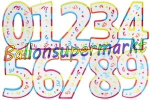 Colorful Maxi Zahlen Geburtstagskerzen
