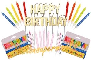 Geburtstagskerzen für Kuchen und Torte