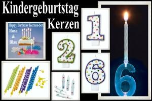 Geburtstagskerzen, Kerzen zum Kindergeburtstag