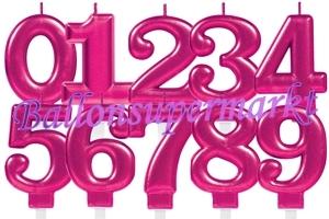 Pink Celebration Zahlen Geburtstagskerzen