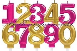 Celebration Zahlen Geburtstagskerzen