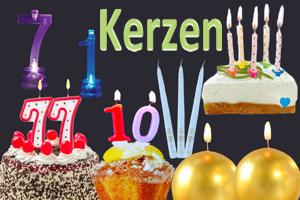 Kerzen m. Jahreszahlen, Geburtstagskerzen, Jubiläumskerzen