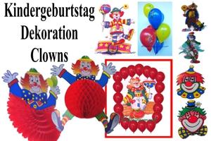 Kindergeburtstag Dekoration Clowns