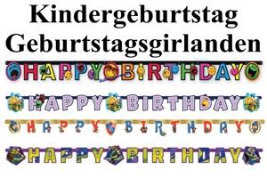 Kindergeburtstag Geburtstagsgirlanden