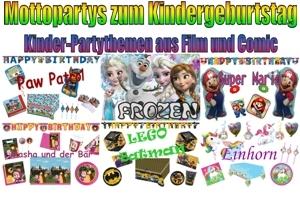 Partydekoration Kindergeburtstag