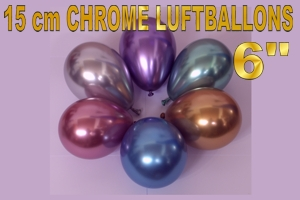 Mini-Luftballons Chrome