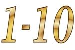 Konfetti Streudekoration Zahlen 1-10