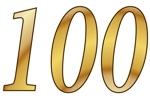 Konfetti Streudekoration Zahl 100