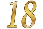 Konfetti Streudekoration Zahl 18