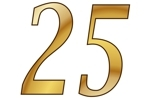Konfetti Streudekoration Zahl 25