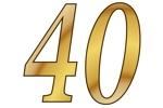 Konfetti Streudekoration Zahl 40