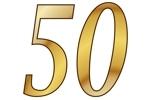 Konfetti Streudekoration Zahl 50