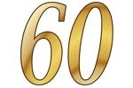 Konfetti Streudekoration Zahl 60