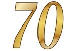Konfetti Streudekoration Zahl 70
