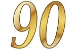 Konfetti Streudekoration Zahl 90
