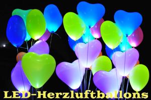 LED-Herzluftballons