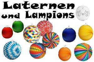 Laternen und Lampions