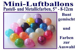 Kleine Luftballons, Rundform, 8-12 cm