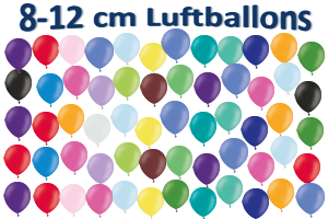 Luftballons, Rundballons, 8-12 cm, bunt gemischt, Pastell