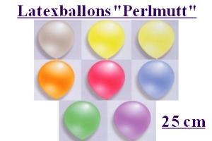 Luftballons, Rundform, 25 cm, Perlmutt