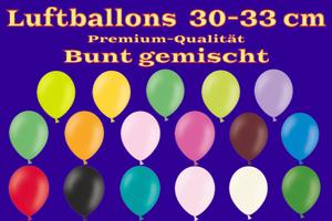 Luftballons, Rundballons, 30 cm, bunt gemischt, Pastell