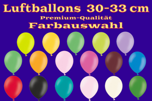Luftballons 30-33 cm / Farbauswahl - Latexballons in Premium-Qualität