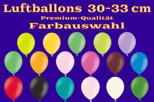 Luftballons, Rundballons, 30 cm, Farbauswahl, Pastell