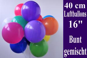 Luftballons, Rundballons, 35-40 cm, bunt gemischt