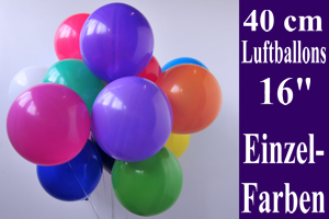 Latexballons 40cm / Single Farben