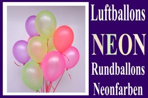Luftballons, Rundform, 20 cm + 30 cm, Neonfarben