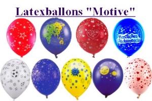 Luftballons mit Motiven, bedruckte Latexballons