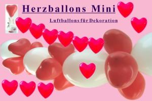 Herzballons Mini 12-14 cm