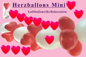 Herzluftballons Mini 12-14 cm