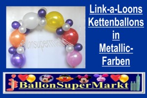 Luftballons, Kettenballons, Metallic