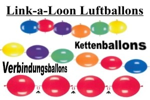 Luftballons zum Verbinden, Kettenballons