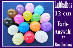 Latexballons 12cm / Single Farben