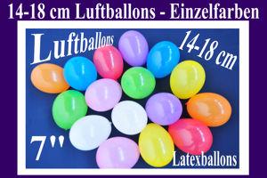Luftballons, Rundballons, 14-18 cm, Farbauswahl