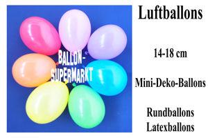 Kleine Luftballons, Rundform, 14-18 cm
