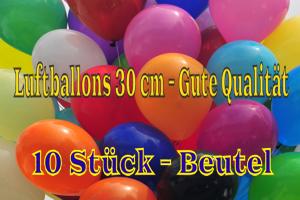 Luftballons 30 cm - Gute Qualität - 10 Stück Beutel