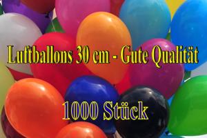Luftballons 30 cm - Gute Qualität - 1000 Stück
