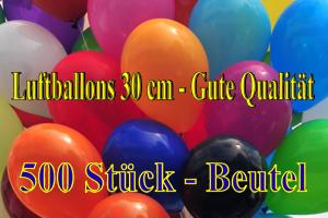 Luftballons 30 cm - Gute Qualität - 500 Stück Beutel