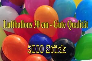 Luftballons 30 cm - Gute Qualität - 5000 Stück