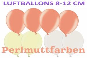 "Luftballons Perlmutt, 8-12 cm, 5"", Farbauswahl"