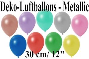 Deko-Luftballons 30 cm Metallic