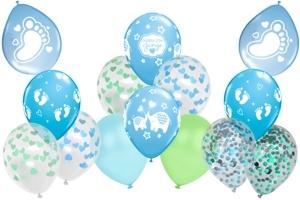 Latexballons zu Geburt und Taufe, Junge, Boy