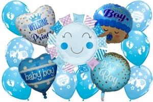 Luftballons zu Geburt und Taufe, Baby Boy, Junge