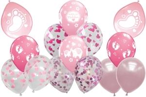 Latexballons zu Geburt und Taufe, Mädchen, Girl