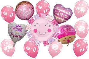 Luftballons zu Geburt und Taufe, Mädchen, Girl
