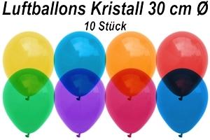 Luftballons Kristall 30 cm - 10 Stück Beutel