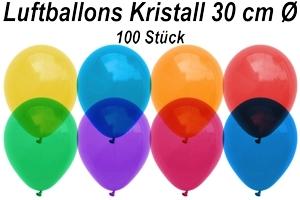 Luftballons Kristall 30 cm - 100 Stück Beutel